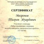 Сертификат Авиценна